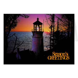Lighthouse Christmas Card