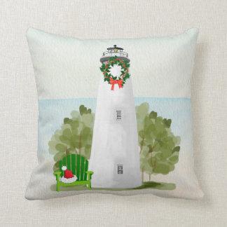 Lighthouse Christmas Pillow