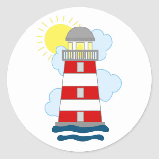 Lighthouse Classic Round Sticker