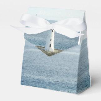 Lighthouse Coastal New England Wedding Favor Box