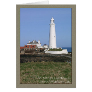 Lighthouse, costal view, St. Mary's Lighthouse Greeting Card