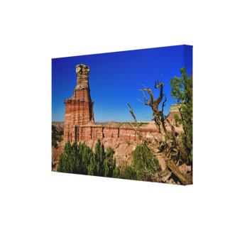 Lighthouse Formation in Palo Duro Canyon Canvas Print