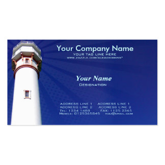 lighthouse in blue background pack of standard business cards