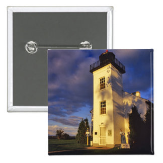 Lighthouse in Escanaba UP Michigan 15 Cm Square Badge