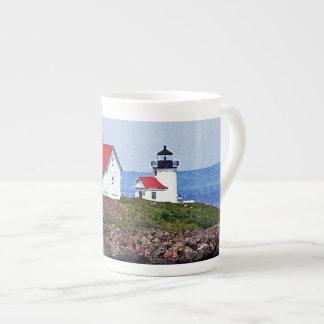 Lighthouse in Maine Bone China Mug