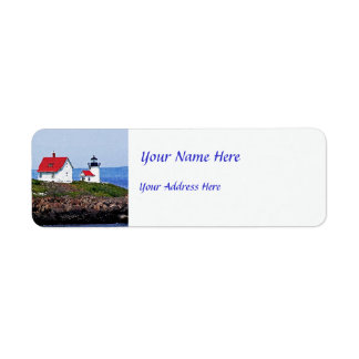 Lighthouse in Maine Return Address Label