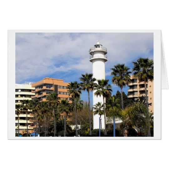 Lighthouse in Marbella, Spain Card
