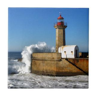 Lighthouse in Porto Ceramic Tile