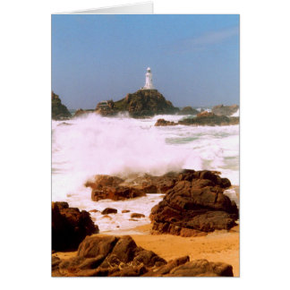 LIGHTHOUSE IN STORMY WEATHER CARD