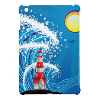 Lighthouse in the Sea 3 iPad Mini Case