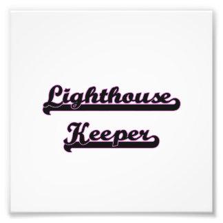 Lighthouse Keeper Classic Job Design Photographic Print