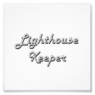 Lighthouse Keeper Classic Job Design Photo Art