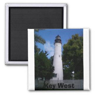 lighthouse_keywest, Key West Square Magnet
