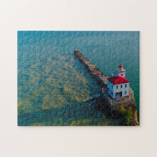 Lighthouse Lake Erie. Jigsaw Puzzle