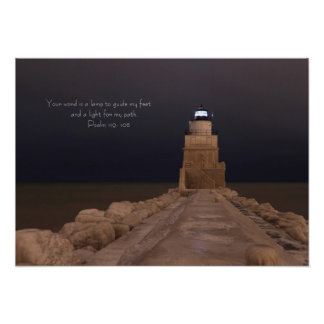 LIghthouse Lamp - 7824 Poster