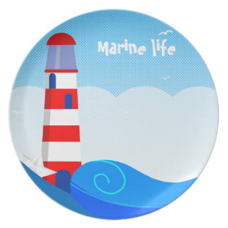 Lighthouse melamine plate