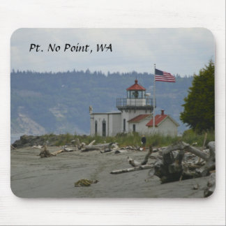 Lighthouse Mousepad: Point No Point Mouse Pad