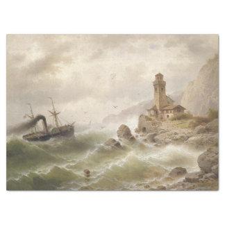 Lighthouse Ocean Ship Sea Beacon Tissue Paper