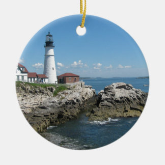 Lighthouse Of Bar Harbor Ceramic Ornament