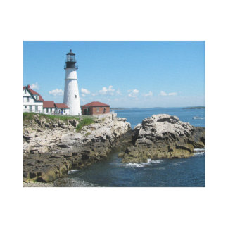 Lighthouse of Maine Stretched Canvas Print