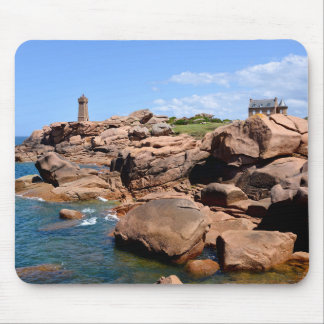 Lighthouse of Ploumanac'h in France Mouse Pad