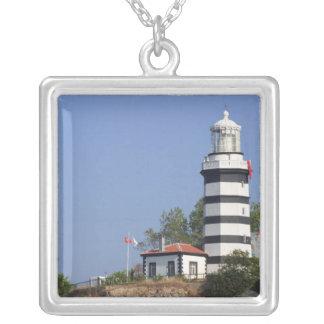 Lighthouse of Sile, Istanbul, Turkey Square Pendant Necklace