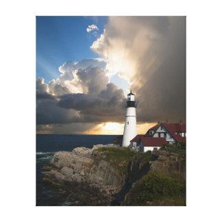 Lighthouse on a cliff canvas print