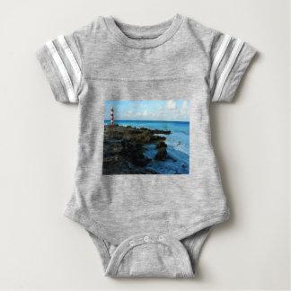 Lighthouse on a Mexican Beach Baby Bodysuit
