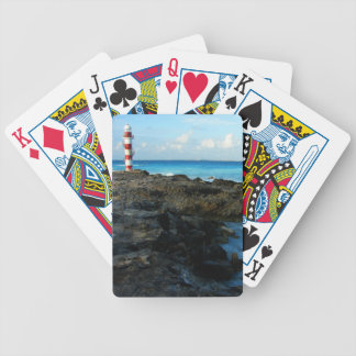 Lighthouse on a Mexican Beach Bicycle Playing Cards