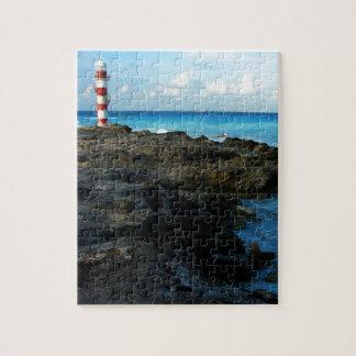 Lighthouse on a Mexican Beach Jigsaw Puzzle
