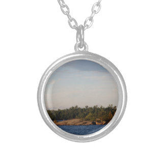 Lighthouse on Shoal Island Silver Plated Necklace