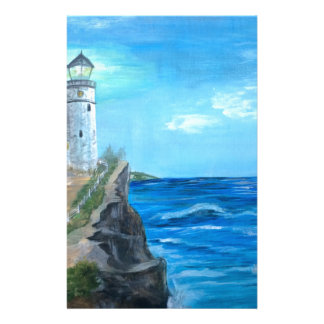 Lighthouse on the Cliffs Personalised Stationery