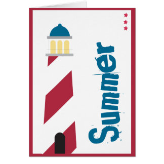 Lighthouse on the Seashore Stationery Note Card