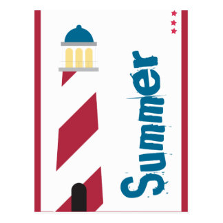 Lighthouse on the Seashore Postcard