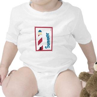 Lighthouse on the Seashore Baby Bodysuits