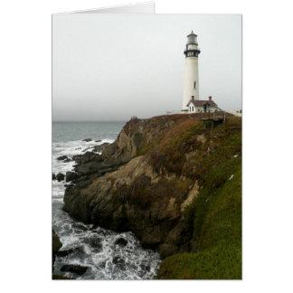 Lighthouse on the Shoreline Card