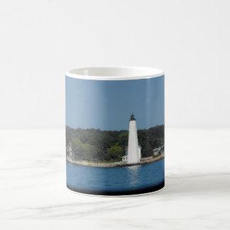 lighthouse on the sound basic white mug
