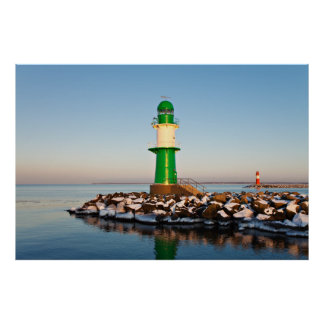Lighthouse on the the Baltic Sea coast Poster