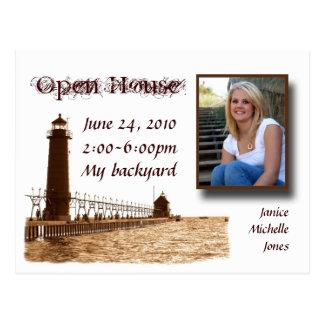 lighthouse,open house postcrd postcard