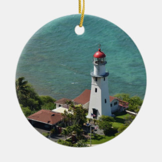 Lighthouse Ornament with Inspirational Quote