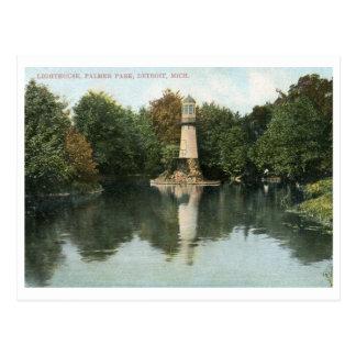 Lighthouse, Palmer Park, Detroit 1915 Vintage Postcard