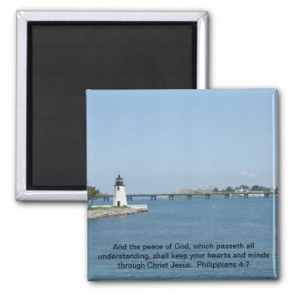 Lighthouse Philippians 4:7 Magnet