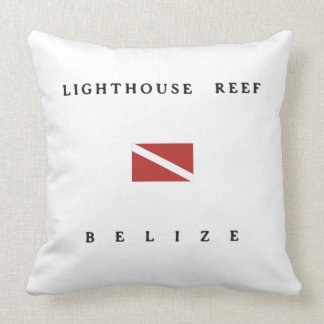Lighthouse Reef Belize Scuba Dive Flag Throw Pillow