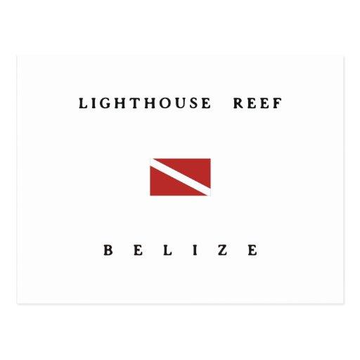 Lighthouse Reef Belize Scuba Dive Flag Postcards