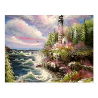 Lighthouse Seascape Postcard