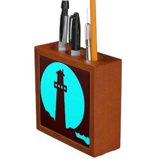 Lighthouse Silhouette Desk Organiser