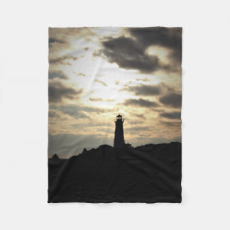 Lighthouse Silhouette Fleece Blanket