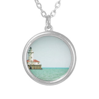 lighthouse silver plated necklace