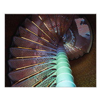 Lighthouse staircse photo print
