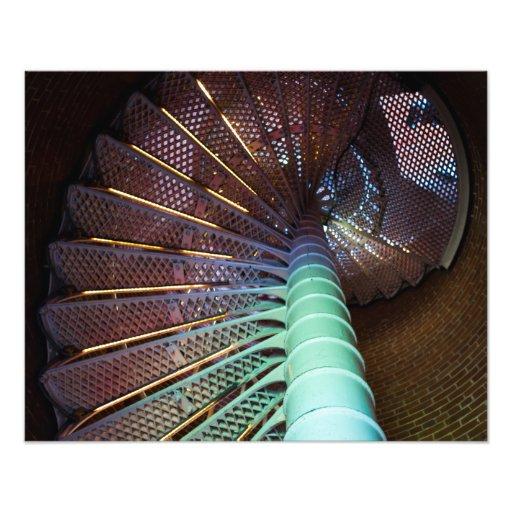 Lighthouse staircse photo print